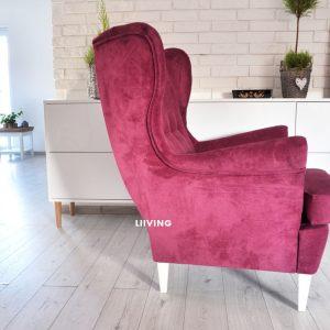 Fotel Amarantowy