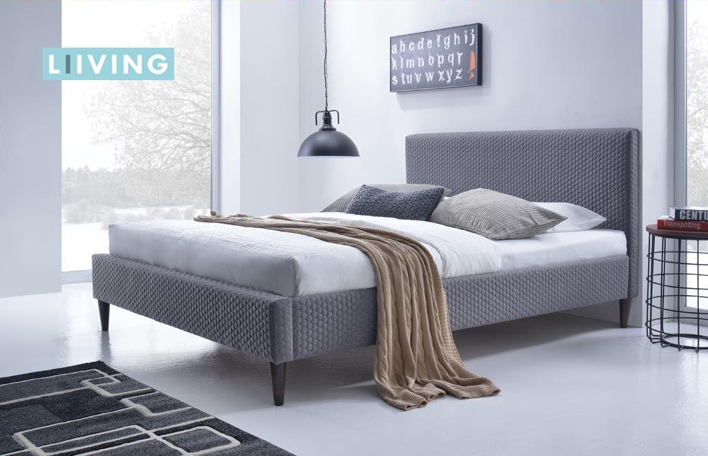 łóżko tapicerowane skandynawskie