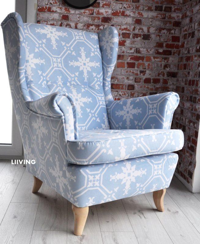 fotel uszak niebieski
