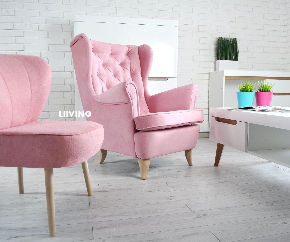 fotel w różu