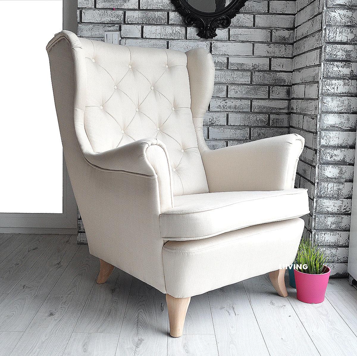 fotel w ecru