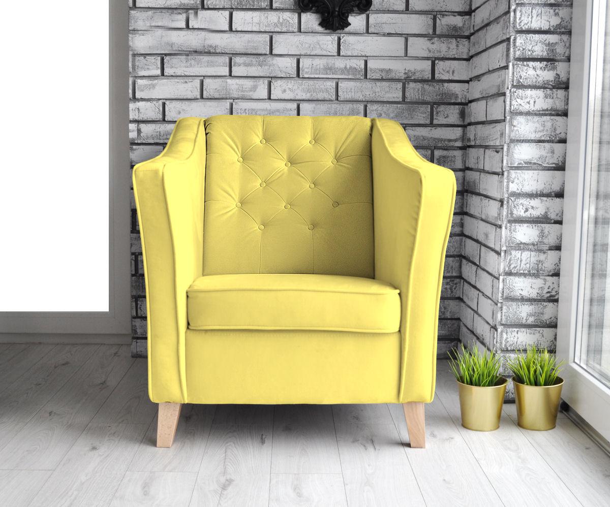 fotel żółty do restauracji
