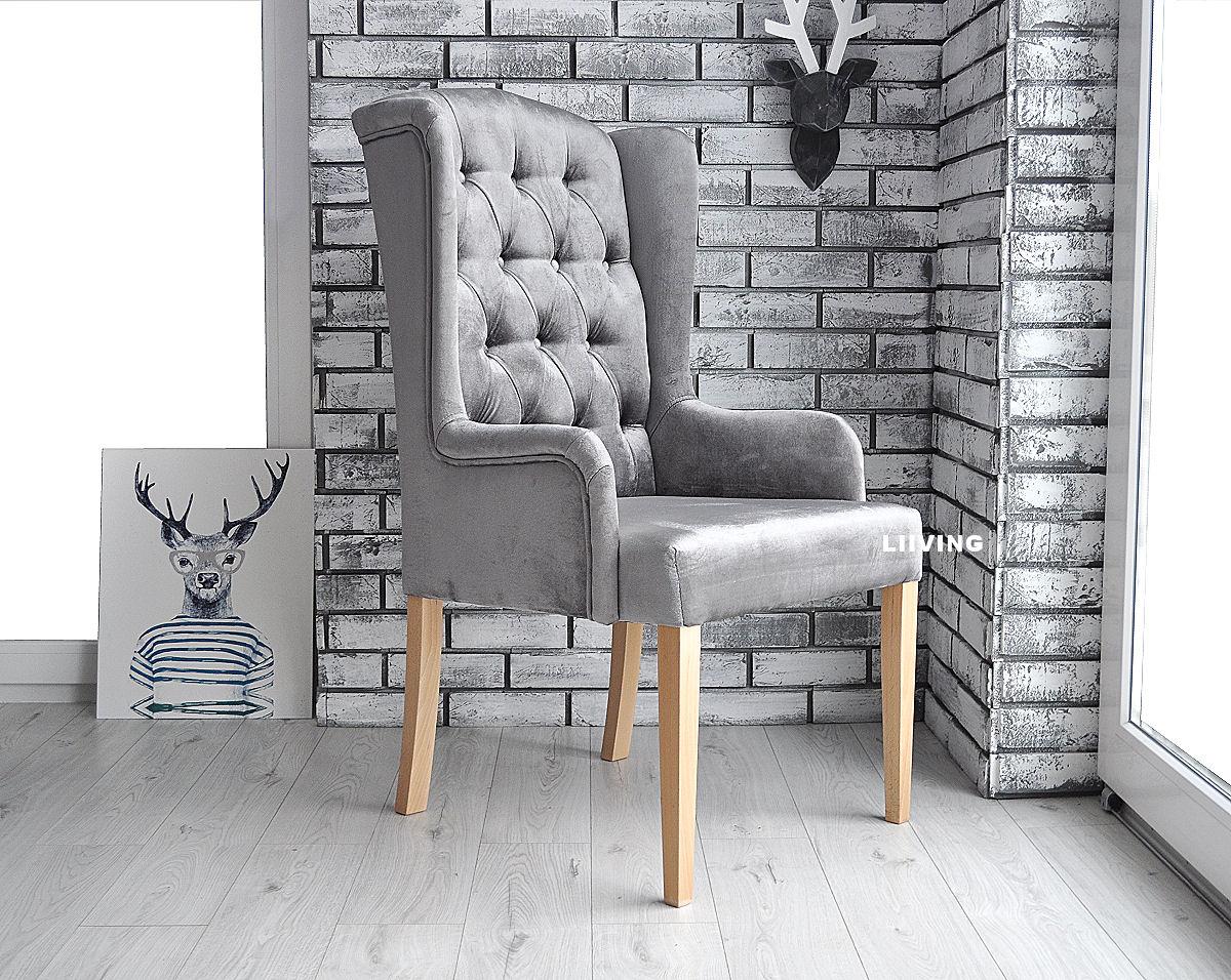 krzesło z pikowaniem chesterfield