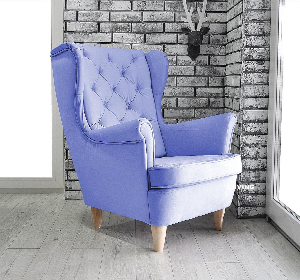 fotel uszak w kolorze fiolet jasny