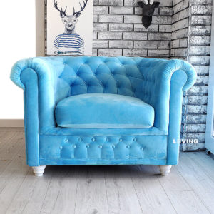 fotel pikowany chesterfield