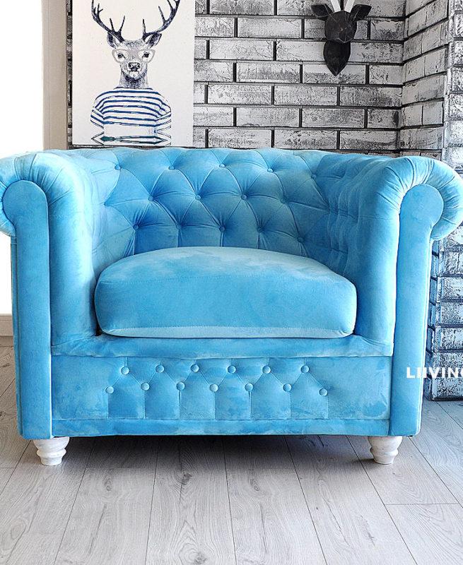 fotel pikowany chesterfield