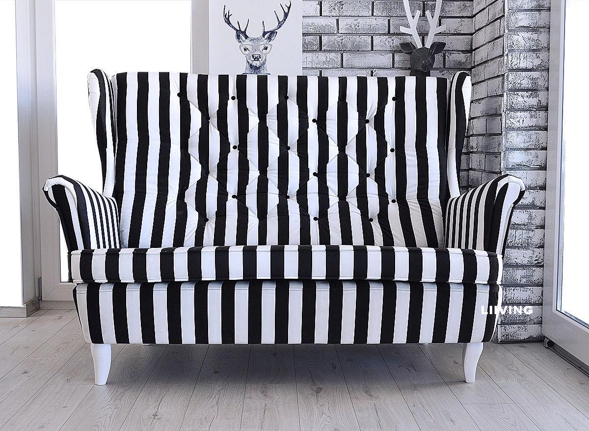 sofa uszak w pasy