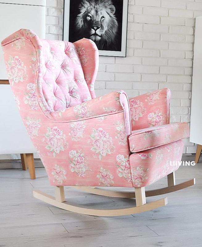 fotel w roze