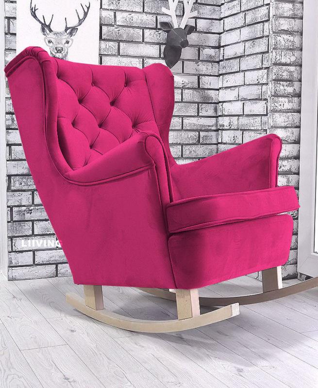 fotel uszak w kolorze amarant