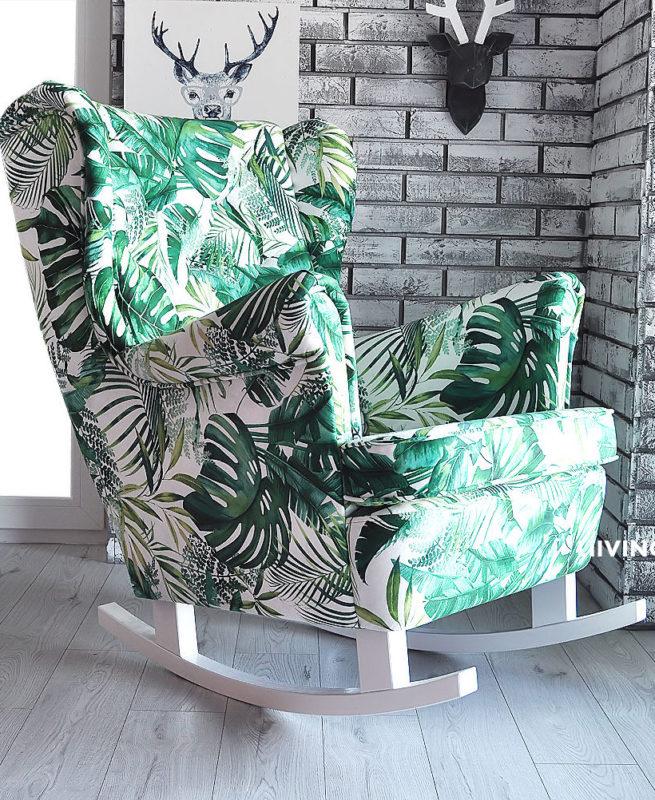 fotel w liście dżungli