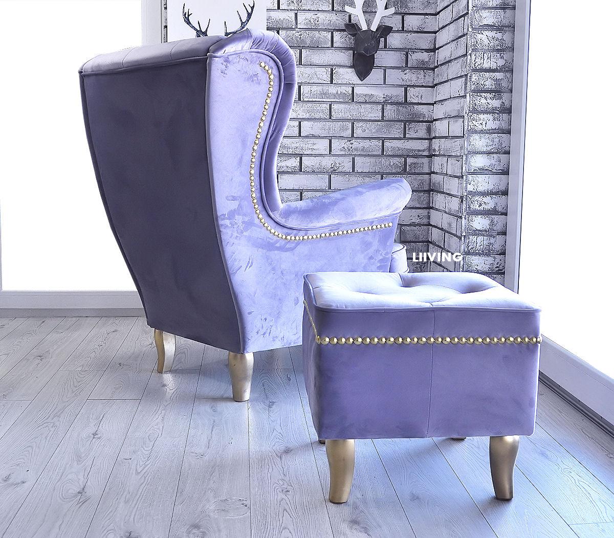 fotel i podnozek uszak